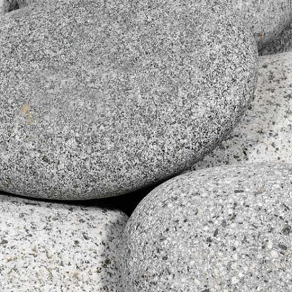 25 kg Beach pebbles 40-60 mm grijs