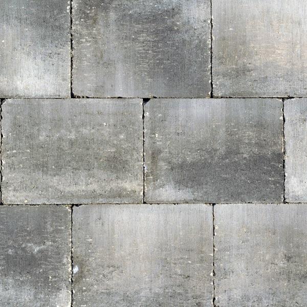 Abbeystones 20x30x6cm Grijs-Zwart