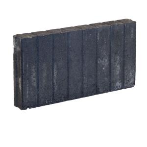 Mini Quadrobandpalissade Zwart 6x25x50cm