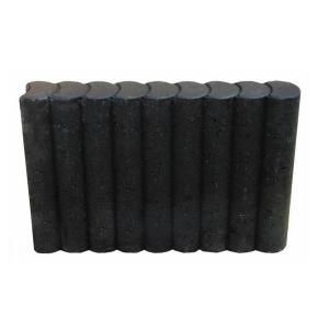 Rondobandpalissade 8x25x100cm zwart
