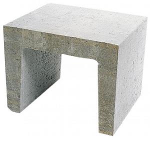 U element 40x40x50 grijs